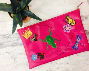 Handmade/ hand painted Clutch