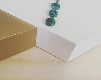 Vibrant Turquoise Jasper Necklace