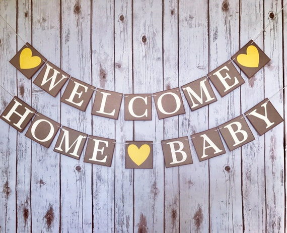 Welcome home baby welcome home baby banner baby homecoming for Welcome home decorations for baby