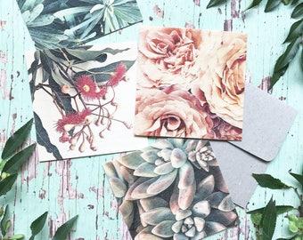 Wooden Cards, Nature Prints, Nature Cards,  Unique Gift Cards, Floral Cards, Wood Cards, Gift Cards, Botanical Prints, Gift Card Set, Botany