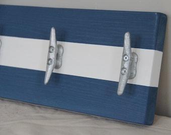 Nautical coat or towel hanger //nautical nursery decor
