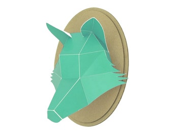 Trophy paper - Fox head - Turquoise