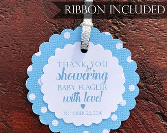 Personalized Baby Shower Favor Tag Baby Shower Gift Tag