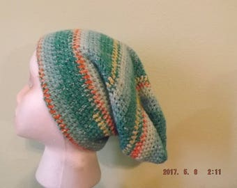 Handmade light weight crocheted slouchy hat