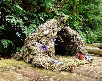 Flower Fairy House - Fairy Haven, Fairy Garden, Garden Gift, Window box, Miniature Garden, Gift, Dollhouse, Indoor Garden, Fairytale, Fairie
