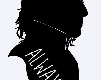 Snape Always | Snape Decal | Severus Snape | Harry Potter | Harry Potter Decal | Snape