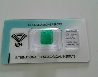 Colombian Emerald 6.52 ct, Emerald Cut, Emerald Engagement, Emerald Loose, Emerald Ring
