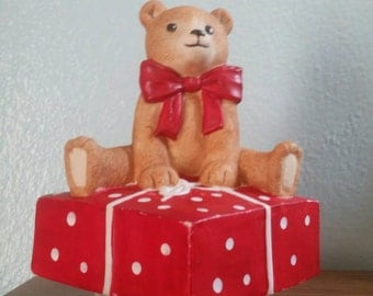 SALE!!! Vintage Schmid Music Box - Gordon Fraser Music Box - Teddy Bear Music Box