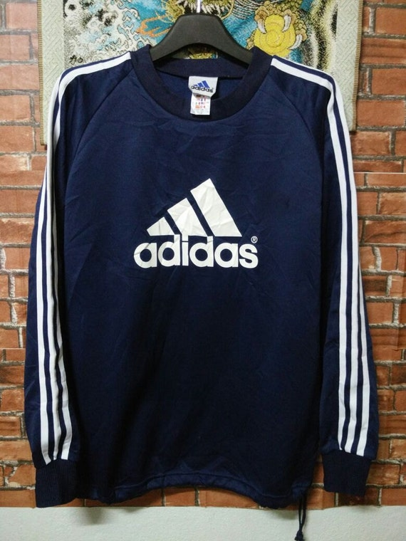 MEGA SALE Vintage 10712 Stripes 90 s Adidas Sweatshirt 3 Vintage Stripes Blue b38a7ff - hvorvikankobe.website