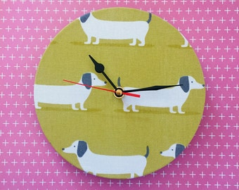 Dachshund Clock -  Dachshund Wall Clock - Dog Lover Gift - Sausage Dog Clock - Doxie -Free Gift Wrap