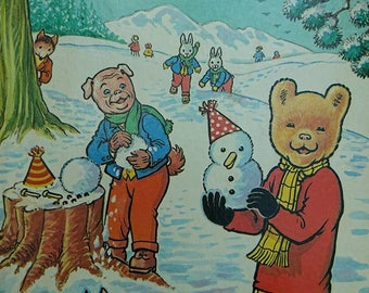 Vintage 1974 First Edition Rupert The Bear The Daily Express Annual BoutiqueByDanielle