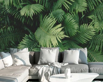 Ferns Mural | Adhesive Wall Mural | Adhesive Wallpaper | Removable Wallpaper  | Removable Wall Mural Part 33