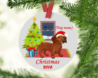 Personalized Dachshund Christmas Ornament - Dachshunds - Custom Dachshund Ornament - Dachshunds First Christmas - Dachshund Ornament -