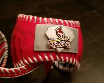St. Louis Cardinals Baseball Cuff Bracelet