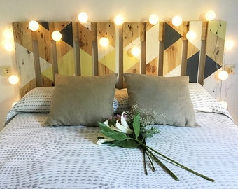 Headboard March, of pallets recycled.