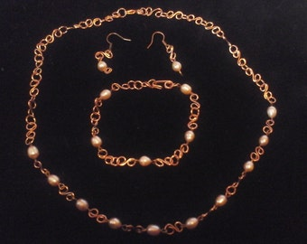 Set with pearls