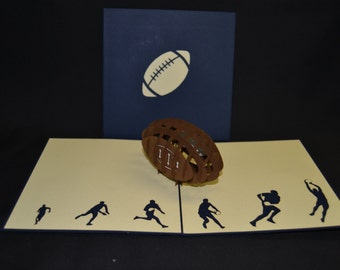 3-D Football Pop-Up Card