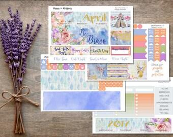 April 2017 Monthly Planner Sticker Kit / HAPPY PLANNER