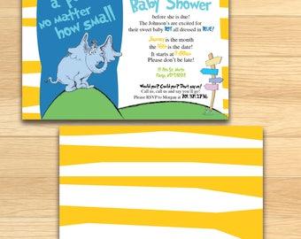 Dr.Seuss Baby Shower Invitation