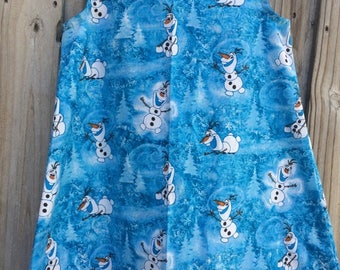 Olaf dress made to order little girls sizes 1-8
