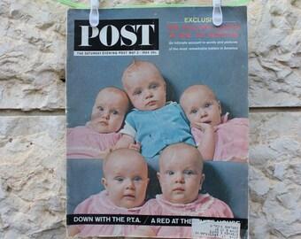 Vintage Saturday Evening Post Magazine 2 May 1964 // Vintage Saturday Evening Post // Vintage magazine // 60s