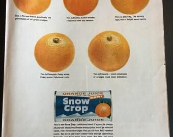 Orange juice Ad from 1963 LIFE magazine