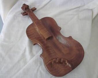 Lane  & Co. Van Nuys CA. Pottery Violin Ashtray