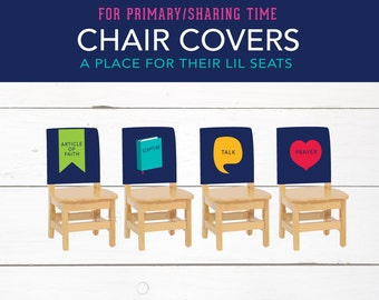 Church Primary, Sharing Time, Seat Covers, LDS, Talk, Scripture, Prayer, Article of Faith, Choose the Right,Printables
