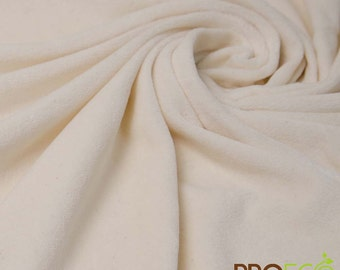 Pre-Activated ProECO® Heavy Bamboo Velour Fabric (Natural, sold by the yard)