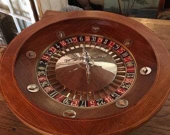 Vintage Casino Roulette Wheel from Paris