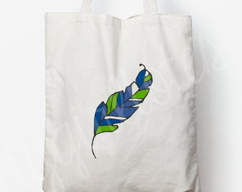 Seahawks Feather Tote