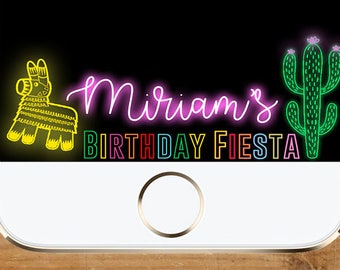 Neon Fiesta Snapchat Geofilter