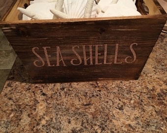 Stained wood storage box
