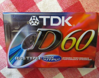 10 Blank Cassette Tapes TDK Dynamic Performance D60 High Output IEC I / Type I - Ten  Audio Cassette Tapes