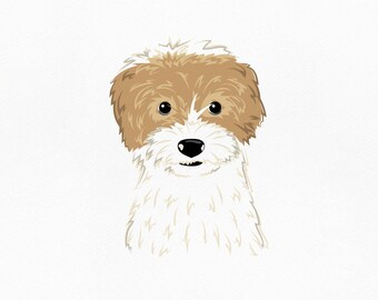Pet portrait. Custom portrait. Dog illustration. Custom pet portrait. Dog portrait. Pet art. Gift for coworker. Dog wall art.