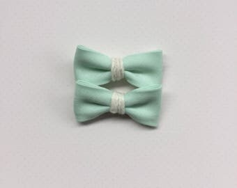 Mint Jane bows | pigtail bow set || limited edition