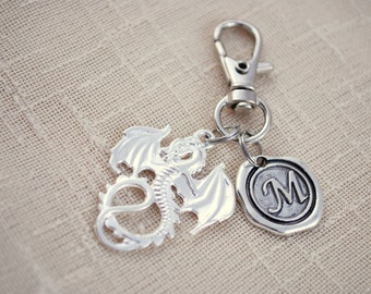 Dragon keychain, FREE SHIPPING, personalized keychain, game of throne funs, Unisex gift