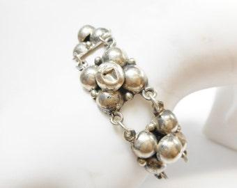 Antique Bracelet, Antique Sterling Bracelet, Sterling Bracelet, Antique Link Bracelet, Old Bracelet, Old Sterling Bracelet, #2535