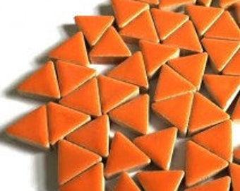 Triangle Ceramic Mosaic Tiles - Popsical Orange - 50g (1.75 oz)
