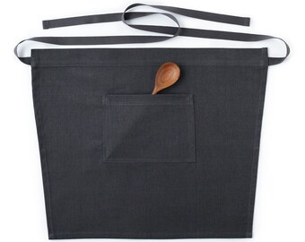 Charcoal Gray Cafe / Bistro Waist Apron