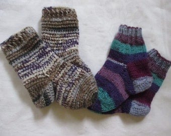 2 Pack dual Pack baby socks hand made about Gr. 18/19 foot 11.5 12 cm socks wool