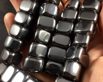 MAGNETIC HEMATITE / Magnetic Stones / Sticky Stones - Magnets, Protection Stones, Stone for the Mind, Tumbled Magnets