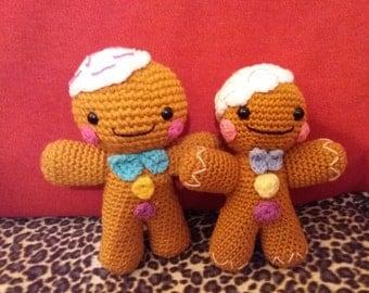 hand made crochet gingerbread man christmas cute