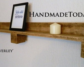 Handmade Rustic Industrial Shelf Mantlepiece Made From Recycled Pallet Wood