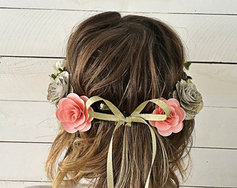 Handmade Sheet Music Paper Flower Crown