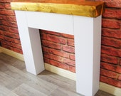 Modern Chunky Fire Surround with Light Oak Sleeper