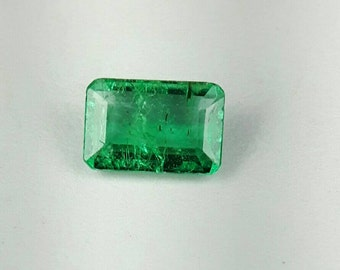 0.66ct 6.6x4.3 emerald cut Emerald