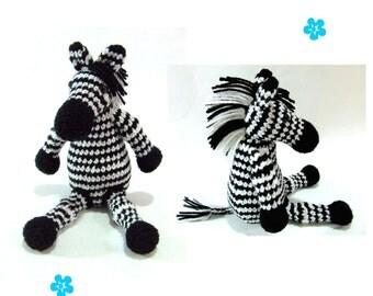 Zebra amigurumi crochet pattern PDF