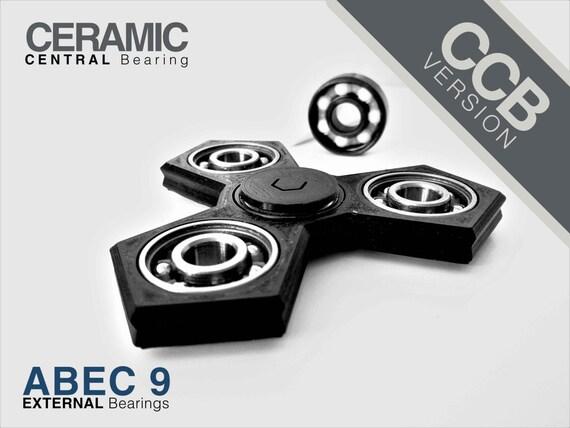 CCB Version   Penta Spinner - Ceramic Central Bearing - Fidget spinner hand finger - EDC Focus - ADHD - 3D Printed