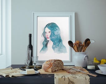 Blue Haired Woman